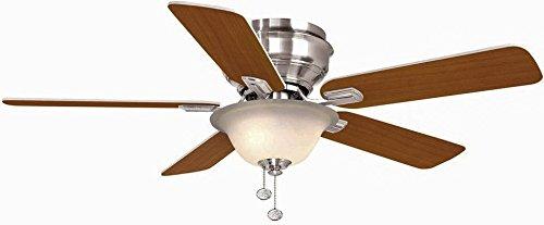 Hampton Bay Hawkins 44 in. Brushed Nickel Ceiling Fan For Sale