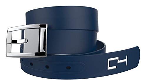 C4 Classic Belt: Navy Strap / Silver Chrome Buckle