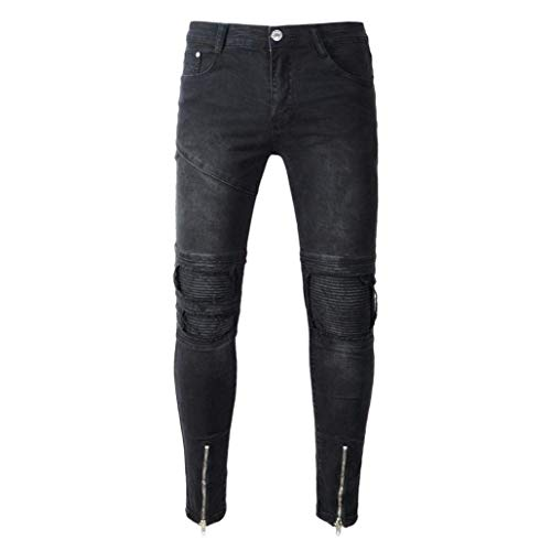 Da Demin Classiche Trousers Pantaloni Slim Fit Hiphop Jeans Uomo Moto Streetwear Retro Nn Ragazzi Nero dPB8wE8xq