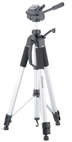 Price comparison product image Polaroid PLTRI72S 72-Inch Photo and Video ProPod Tripod Includes Deluxe Tripod Carrying Case and Additional Quick Release Plate for Digital Cameras and Camcorders - Silver