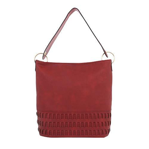 Ital para Design Sintético de Rojo Bolso mujer hombro al w4BwqrHxSR
