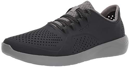 - Crocs Men's Ltrdpacerm Sneaker, Black/Smoke, 5 M US