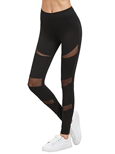 SweatyRocks-Women-Cutout-Mesh-Panels-Leggings-Stretchy-Yoga-Workout-Pants
