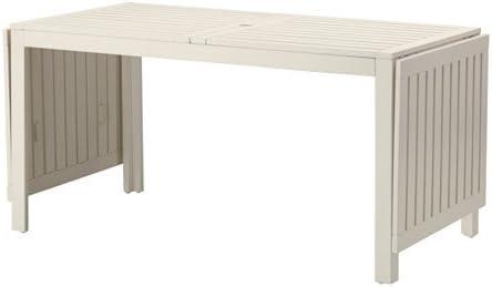 IKEA APPLARO FWT02-N – Mesa Madera Plegable Blanco asientos 4 – 8 ...