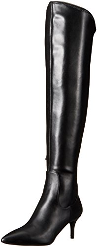 Nine West Women's Marcia Stretch Knee-High Boot, Black, 8.5 M (Knee High Stretch Boot)
