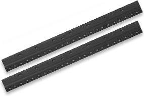 Raxxess Rack Rail Black Pair - (12 Space)
