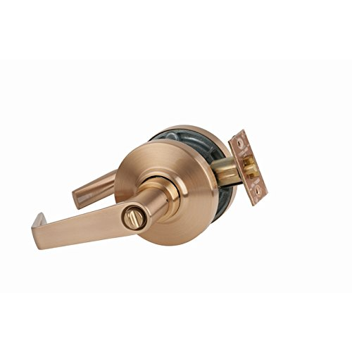 Schlage commercial AL53SAT612 AL Series Grade 2 Cylindrical Lock, Entry Function Turn/Push Button Locking, Saturn Lever Design, Satin Bronze Finish by Schlage Lock Company