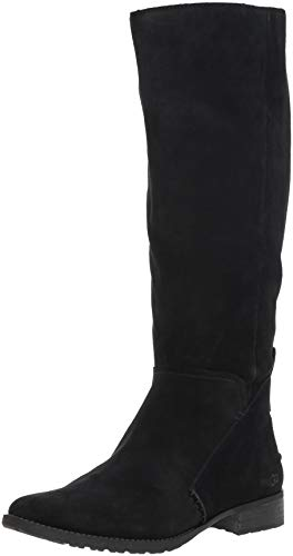 UGG Women's W Leigh  Boot, Black, 8 M - Uggs Zipper With