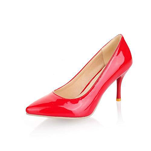 elepbaba Big Size 34-45 high Heels Women Pumps Thin Heel Classic White red nede Beige Sexy Prom Wedding Shoes