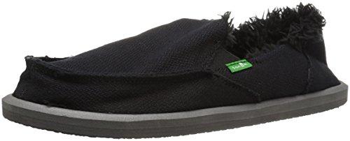 Sanuk Women's Donna Hemp Chill Slipper,Black,11 M US (Donna Womens Shoes)