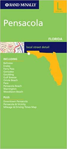Map Pensacola Florida.Rand Mcnally Pensacola Florida City Map Rand Mcnally Folded Map