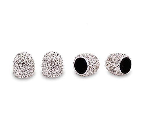 EveryPossible Bling Bling Car Accessories Crystal Deluxe Diamond Crown Tire Valve Stem Caps (Cap Deluxe Skull)