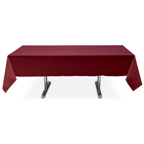 Online Stores, Inc. Plastic Table Cover Rectangle Burgundy