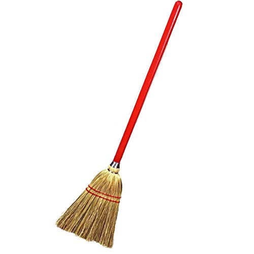 Rocky Mountain Goods Small Broom for Kids and Toddlers - Solid Wood Handle with 100% Natural Broom Corn bristles - Ideal Kids Size 34