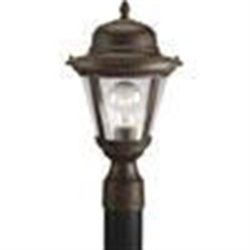 Progress Lighting P5445-20 1-Light Post Lantern 100 Watt 120 Volt Antique Bronze Powder Coated Westport 20 Westport 1 Light