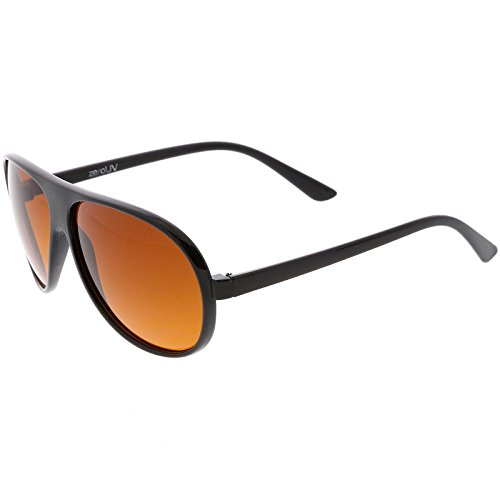 420681ce469a sunglassLA - Hangover Costume Aviator Sunglasses Blue Blocking Lens 64mm  (Black/Orange)