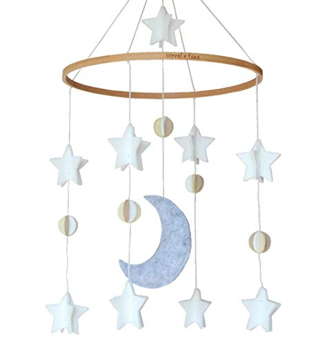 Baby Crib Mobile by Sorrel & Fern- Moon, Stars & Planets Nursery Decor | Crib Mobile from Sorrel + Fern
