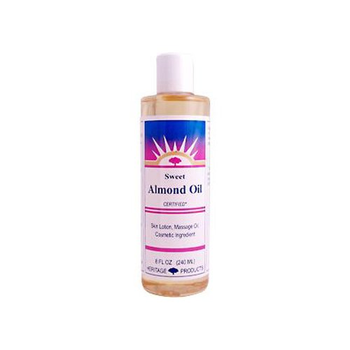 Heritage Products Sweet Almond Oil -- 8 fl oz