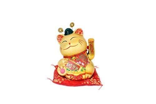 tienda de venta Chao Zhou Ceramics 28cm Cerámica Cerámica Cerámica Rojo Disfraz Agitándose Gato de la Suerte  Venta en línea de descuento de fábrica