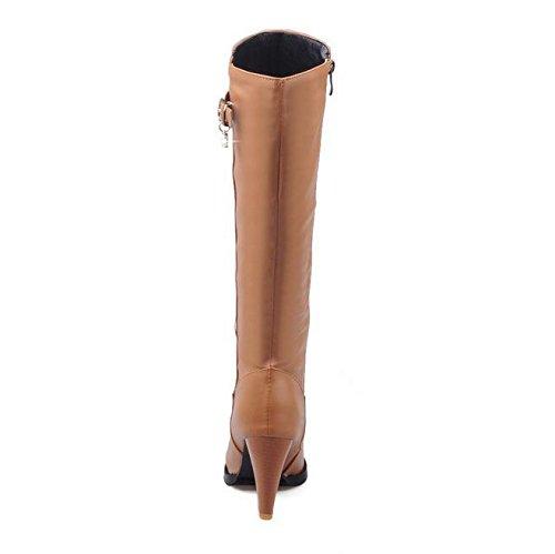 conico gomma traspirante Marrone fibbia nastro nero stagioni in HQuattro stivali stivali pelle XIAOGANG a brown 39 H donne Beige femminili 6qvZv1w