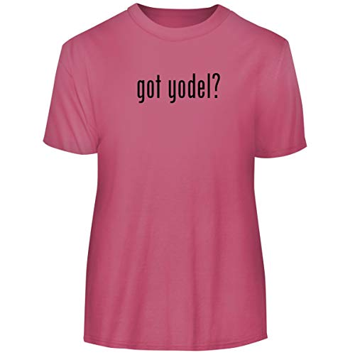 One Legging it Around got Yodel? - Men's Funny Soft Adult Tee T-Shirt, Pink, XXX-Large -