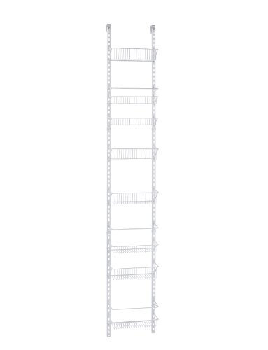 Rack Accessory Bin Wire (ClosetMaid 1231 Adjustable 8-Tier Wall and Door Rack, 77-Inch Height X 12-Inch Wide)