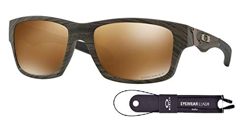 Oakley Jupiter Squared OO9135 913535 56M Woodgrain/Prizm Tungsten Polarized Sunglasses For Men+BUNDLE with Oakley Accessory Leash Kit