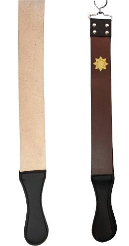 GENUINE LEATHER SHARPENING STROP STRAP BELT FOR STRAIGHT CUT THROAT SHAVING RAZOR by H and A Trading