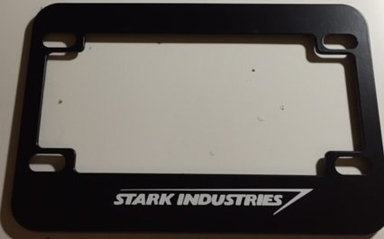 Stark Industries - Black Motorcycle / Scooter License Plate Frame -