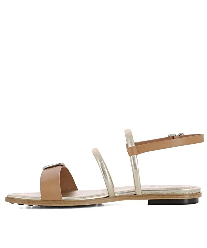 Tod's Brown Leather Women's Sandals XXW0TK0Y480D90S002 08rx8CRwqg