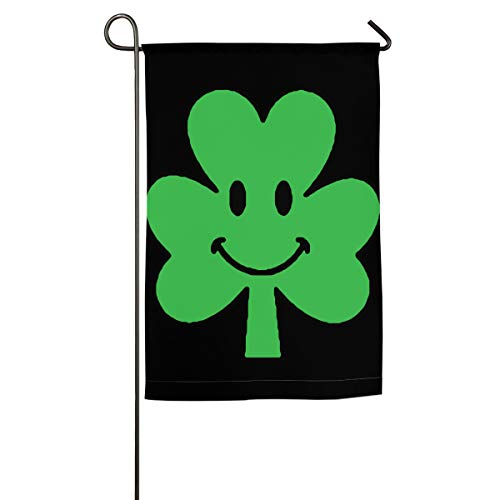 JQMY4QL Cute Shamrock Face Cliparts Family Flag Garden Flag Decorative Use Indoor Or Outdoor 12
