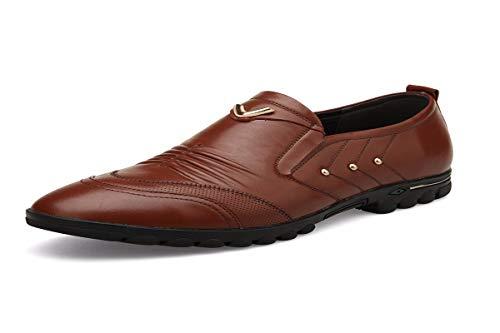 new york 17f98 d9a46 Black Zapatos Casual Kmjbs Gandul Hombre Y De Cuero real Treinta Edad Ocho  Hombres Los Calzado Mediana qq078nwg