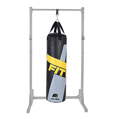 FITVEN Punching Bag for Adults Kids, Indoor/Garden Boxing Bag, Heavy Bag for MMA, Kickboxing, and Muay Thai - 50LB