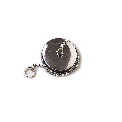 acquastilla 100536Cap Black With Rosette, Ring and Chain