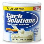 Solutions Carb Protein Shake Mix haut, à la vanille crémeuse (13,5 Onces)