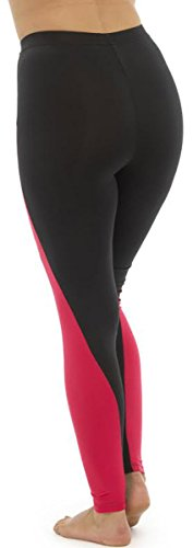 31S9Ri2xWML - Ladies Tom Franks Two Tone Sport Fitness Yoga Gym Leggings Fashion MED-Pink