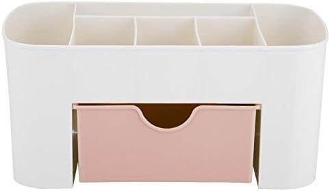 Jingyi Aufbewahrungsbox, praktische und Elegante, multifunktionale Schreibtisch Desktop Organizer Schublade Schreibwarenhalter Make-up Aufbewahrungsbox Home(Rosa)