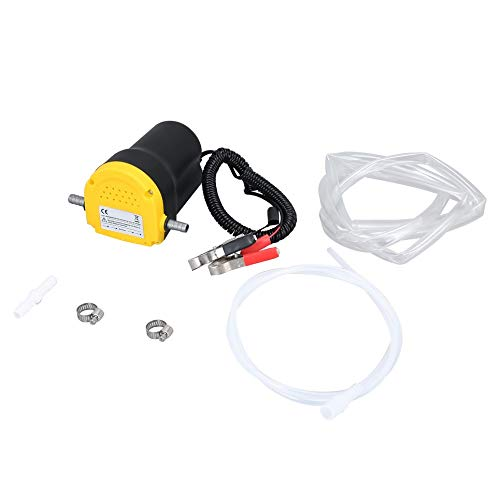 12V Car Engine Oil Pump Fuel Oil Extractor Scavenge Suction Transfer Pump yellow & black