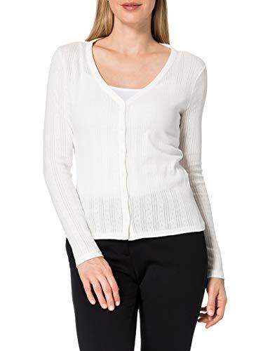 edc by ESPRIT Damen 041CC1K319 T-Shirt, Off White (110), L