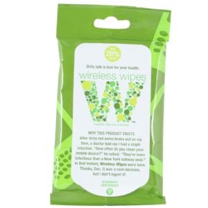 Wireless Wipes Cell Phone Wipes - Rosemary Peppermint Scented