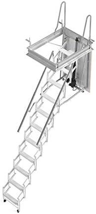 Mister Step esclamatic escalera retráctil motorizada termo-isolata, 13 peldaños, altura total 350 cm.: Amazon.es: Bricolaje y herramientas