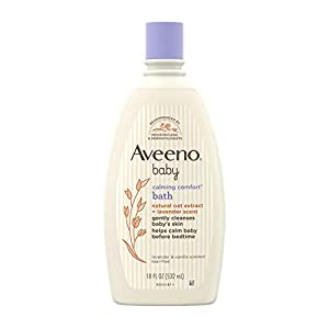 Aveeno Baby Calming Comfort Bath & Wash with Relaxing Lavender & Vanilla Scents & Natural Oat Extract, Hypoallergenic…