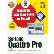 Quattro Pro version 5.0 for Windows 3.1