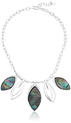 "Robert Lee Morris ""Shades of Grey"" Oval Stone Necklace, 1..."