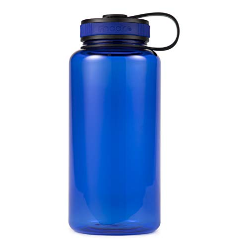 Maars Tritan Wide Mouth 34 oz. BPA-Free Sports Water Bottle | 1 Pack - Blue