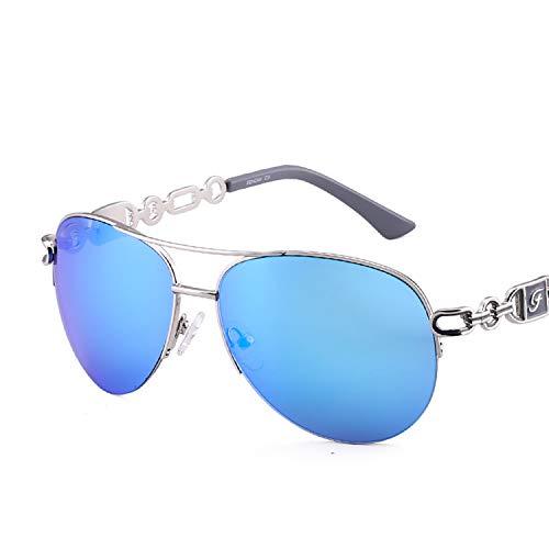 Women Driving Pilot Classic Vintage Sunglasses Metal Fashion Pink,C3 blue ()