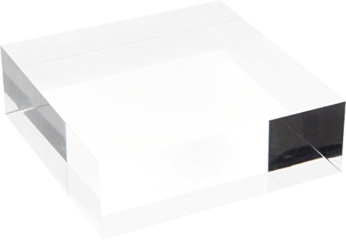 Plymor Clear Polished Acrylic Square Display Block, 2 H x 6 W x 6 D