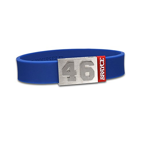 "fan products of BRAYCE Team Colors: Customize your jersey bracelet royalblue with your player number (0-99) 7 sizes (6,3"" – 8,7""): Hockey, Baseball, Basketball & Football"