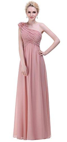 Bislu Flowers One Shoulder Long Prom Evening Party Bridesmaids Dress