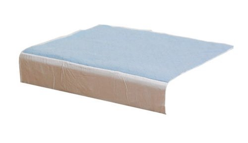 NRS Healthcare Kylie Bed Pads Washable Absorbent Incontinence Sheets - Blue, Size 4 (Double Bed) 139 x 91 cm (Eligible for VAT relief in the UK) by NRS Healthcare